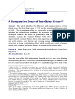 A Comparative Study of Two Global Crises