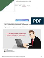 _Los 15 Problemas y Conflictos Más Frecuentes en El Trabajo