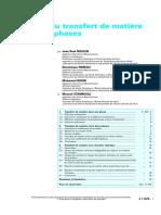 111. Cinétique Du Transfert de Matière Entre Deux Phases