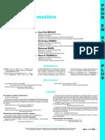 Transfert de Matière - Méthodologie_References