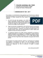 COMUNICADO PNP N° 20 -2017
