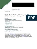 Emergece of p2p Order
