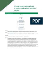 Environmental Scanning in Educational Organizations