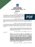 Despacho PEDIDO de SUSPENSÃO Repercussão Geral IMPOSSIBILIDADE Alegações Finais