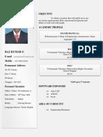 Raj Kumar 11bme1108 Resume
