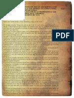 Carta de San Martín a Godoy Cruz