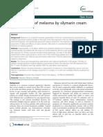 The Treatment of Melasma by Silymarin Cream