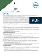 Latitude e5520 Spec Sheet March2011 Spanish Latam