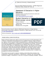 Student Evaluation of College Teaching Effectiveness