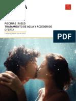 Oferta Piscinas, Riego, Tratamiento de Agua y Accesorios 2017 Levante