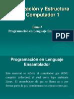 Organización y Estructura del computador