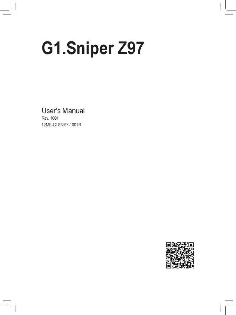 Mb Manual g1 Sniper-z97 e | Usb | Hdmi