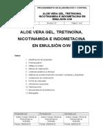 Formula Emulsión de Aloe Tretinoina Nicotinamida Indometacina