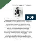 Dna Molecule Historical Timeline