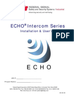 ECHO M Installation and User Manual