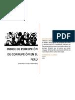 Monografia Indice Percepcion Corrupción en El Perú - PEDRO