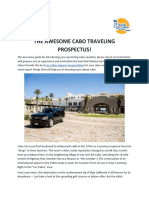 The Awesome Cabo Traveling Prospectus!