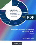 Procesador de Textos-uso Avanzado-LibreOffice Writer-Manual