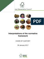 FSC Interpretations Chain of Custody
