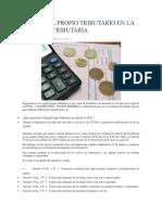 El Capital Propio Tributario en La Reforma Tributaria