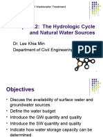 Tp2.2 the Hydrologic Cycle and Natural Water Sources