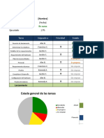 Project Management Dashboard Excel ES2
