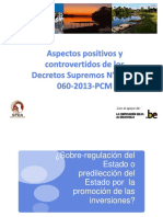Análisis de Los Decretos 054 y 060 2013 PCM Isabel Calle