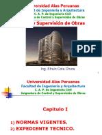 CONTROL Y SUPERVISION DE OBRAS CLASE N° 01