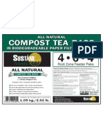 ALL NATURAL COMPOST TEA BAGS