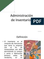 Administración y Valoracion de Inventarios