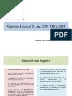 Régimen Laboral D. Leg. 276, 728 y 1057.ppt