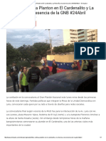 FOTOS_ Continúa Planton en El Cardenalito y La Ribereña Con Presencia de La GNB #24Abril - El Impulso