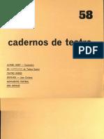 Cadernos de Teatro 58