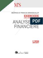 Exercices Avec Corrigés Détaillés - Analyse Financière 2016-2017 Ed 1