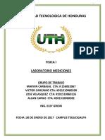 Reporte de Laboratorio Mediciones Fisica 1