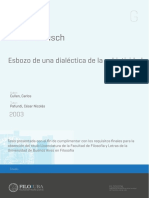 Rodolfo Kusch - Esbozo de una dialéctica de la subjetividad