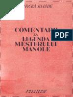 Mircea Eliade-Comentarii La Legenda Meşterului Manole-Publicom (1943)