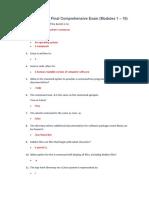Linux Essentials Final Comprehensive Exam