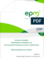 Módulo 1 - Diseño Geotécnico de Túneles - Metodología General e Introducción -EAFIT - DeF - 68