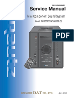 17416 Daewoo NC-8008E NC-8009E Minicomponente CD-MP3 Manual de Servicio