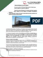 NP20-2017 | Contraloría inaugura nueva sede de la Escuela Nacional de Control para formar auditores y gestores públicos