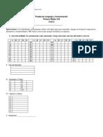 Prueba de Lenguaje y Comunicación 1º Medio. Coef.2 Fila A