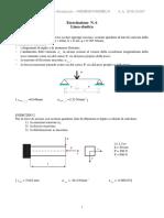 linea elastica meccanica strutturale