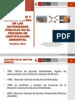 Rol de Las Autoridades Públicas en El Proceso de Certificación Ambiental Angel Chávez
