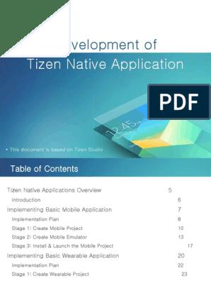 4 Tizen Native App Dev Tizen Studio | Mobile App | Computer File
