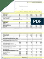 Presupuesto y Planillas de Avance de Infraestructura San Cayetano 3