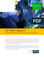 ISO 18436 Category II Vibration Analyst Training