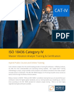 ISO 18436 Category IV Vibration Analyst Training