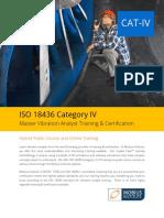 ISO 18436 Category IV Vibration Analyst Training