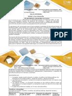 Guia de actividad y rúbrica de evaluación actividad 2. Realizar un análisis reflexivo.